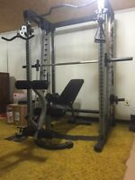 Full home gym and dumbbell set