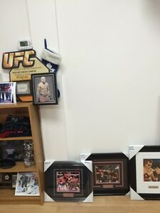 Boxing and UFC signed and framed 8 by 10 pictures