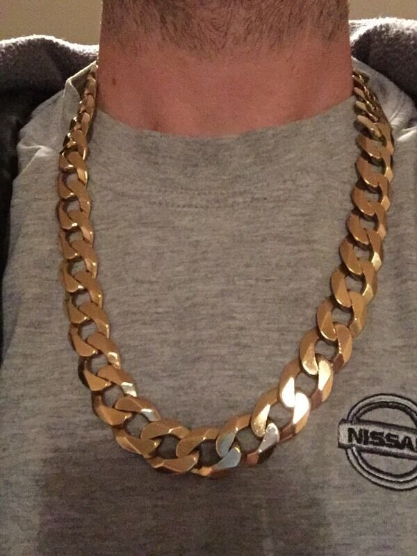9ct Gold Curb Chain 8oz 240g In Blyth Northumberland
