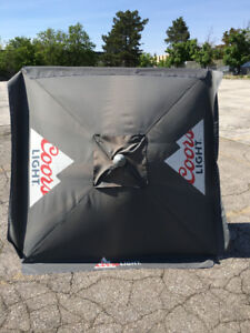 Coors Light Beer Patio Umbrella in GREAT CONDITION