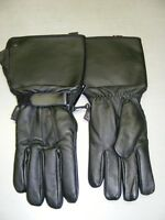 Cold Weather Leather Gauntlet Gloves - Waterproof at RE-GEAR
