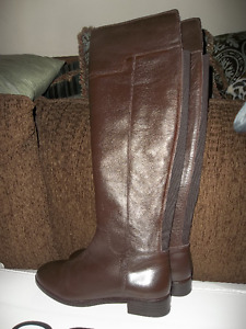 Brand new over  the knee leather boots