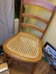 2 wicker chairs