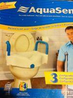 AquaSense Raised Toilet Seat