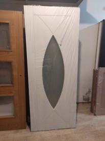 Internal Glazed Door White ( 32.5 x 80 )
