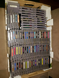 NES and SNES carts big bundle pick up today!