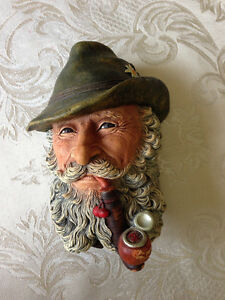 """""""Tyrolean Man"""" -  BOSSONS Painted Chalkware Head"""