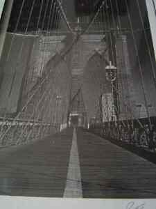 Brooklyn Bridge #2838 - B/W Photo print signed Jesse Kalisher Regina Regina Area image 3