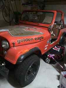 Jeep cj7 golden eagle