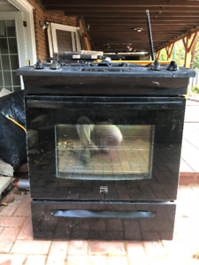 """Kenmore 30"""" slide-in gas range used for two years only $150"""