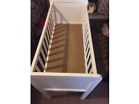 Mothercare crib white