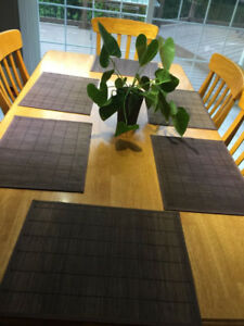 Oak Wood Dining Table with 6 Chairs