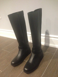 Coach boots (black, leather) brand new, never worn, genuine