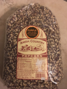 Popcorn - Purple. Amish Country, 6 lb bags $20 each