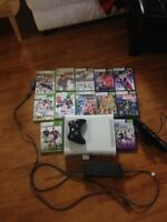 Xbox 360 60GB and kinect with 12 games!