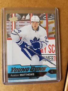 Austin Matthews young guns rookie card.