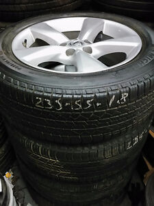 235 55 18 Michelins on OEM Lexus RX Toyota RAV4 alloys / TPMS