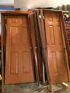 Pre-hung interior 6-panel doors with hardware