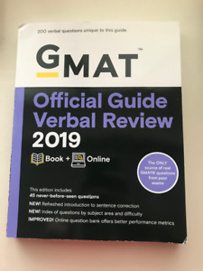 2019 GMAT Official Guide, Quantitative Review and Verbal Review