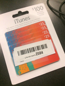 $100 iTunes gift cards for $85