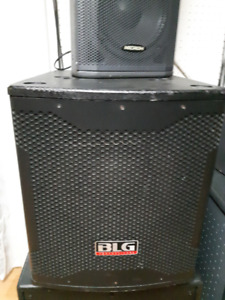 SUBWOOFER AMPLIFIEE BLG  RMX12BO4 BOITES MICROH