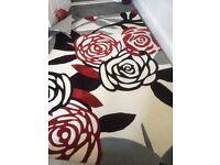 Large floral design rug- brand new!!!