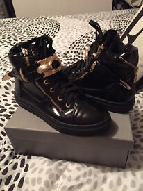 High top trainers size 4.