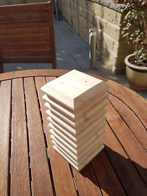"""10 fence post caps 95mm x 95mm to suit 75mm x 75mm  or 3""""×3""""posts."""