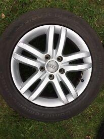 Audi Q7 genuine original alloys and tyres with good tread