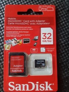 SanDisk 32GB Mobile MicroSDHC Card with Adapter
