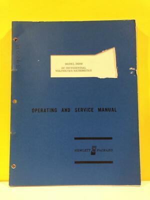 Hp 03420-90001 3420b Dc Differential Voltmeterratiometer Opsservice Manual