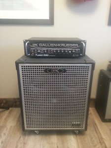 Gallien Krueger Neo 410-4 speaker cab and Fusion 550