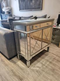 Fabulous Silver Mirrored Cupboard Brand New