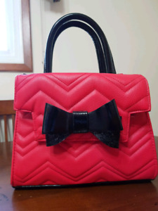 Betsy Johnson red w/ black bowtie