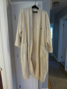 Polo Ralph Lauren terry Cloth Robe in Crème/off White One Size