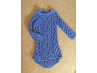 2/3 jumper dress blue