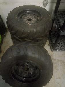 King Quad Stock Tires and Rims (Aluminum)