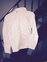 Brand New with tag White and Grey Lululemon Scuba Hoodie Size 10