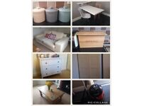 FLAT CLEARANCE - kitchen/living room/bedroom furniture & accessories