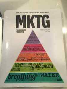 MKTG principles of Marketing, Third Canadian Edition