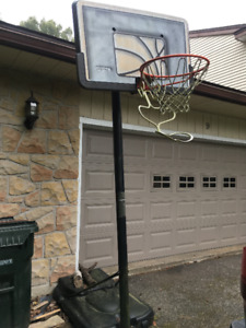 Adjustable Basketball hoop and stand with ball return