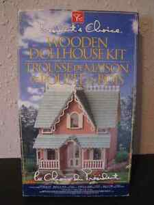 Vintage President's Choice Wooden Cottage Dollhouse Kit