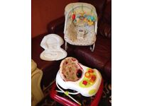 Great bargains !Baby bouncer and walker for sale !