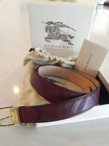 Burberry leather belt - ladies 34. Burgundy fall fashion