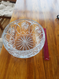 Huge crystal bowl