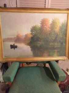 Painting /Muskoka fisherman