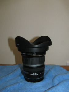 Canon EF-S 10-22mm  F3.5-4.5  $450.