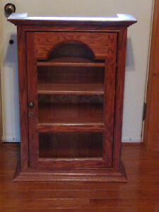 Handcrafted Solid Oak Cabinet-with lock and key