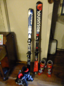 skis et bottines