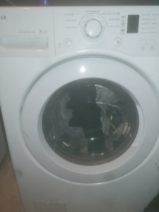 lg wifi and bluetooth washer and dryer brandnew. with stands